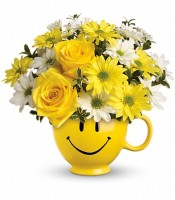 Flowers By Bauers Smiley Mug Bouquet
