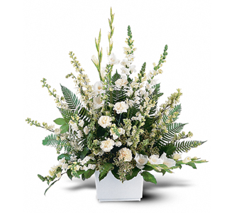 Flowers By Bauers White Expressions Basket