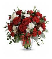 Flowers By Bauers Holiday Shine Bouquet