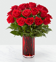 The FTD® True Romantic™ Red Rose Bouquet
