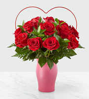 The FTD® Cupid's Heart™ Red Rose Bouquet
