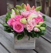 Sweetheart Dutch Flower Box Arrangement