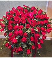 All Roses Casket Spray