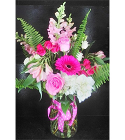 Pink Polka Dot Bouquet