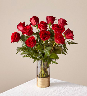 The FTD® Lovebirds Red Rose Bouquet