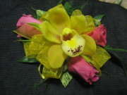 Mini Cymbidium Orchid and Mini Rose Corsage