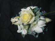 Dendrobium Orchid and Mini Rose Corsage with Bling