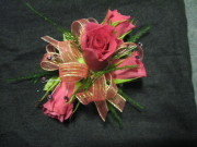 4 Mini Rose Corsage with Bling