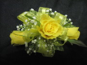 3 Mini Rose Corsage with Bling