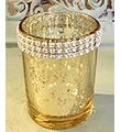 Gold Mercury Diamond Votive 3Hx2