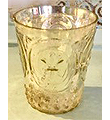 Ornate Gold Mercury Votive 3Hx2.5