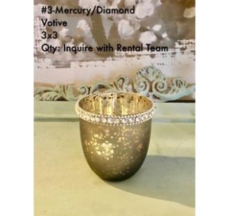 Mercury and Diamond Votive 3x3
