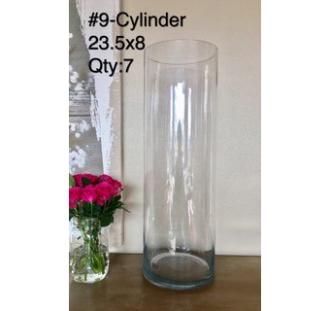 Crystal Clear Cylinder 23.5x8