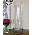 Crystal Clear Cylinder 23.5x8