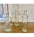 Vintage Bottle Trio Set 12,10,8.5xT-1