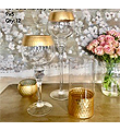 Exquisite Large Gold Mercury Goblets on Glass Stem 16xT-4.5XB-4