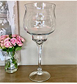 Opulent Glass Brandy Vase 20xT-9xB-6.5