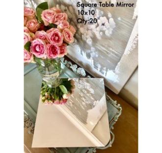 Square Table Mirror 10x10