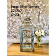 Polished Large Silver Lantern 22x7x7