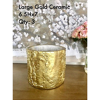 Chic Gold Ceramic 6.5Hx7