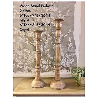 Stylish Wood Pedestal