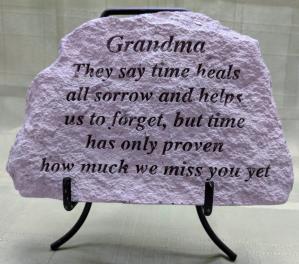 Grandma Conctete Plaque