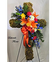 Earthy Cross Standing Spray