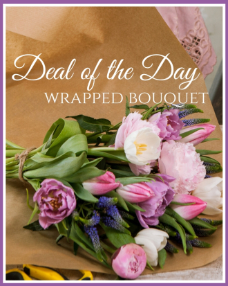 Deal of the Day Wrapped Bouquet