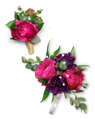 Allure Corsage and Boutonniere Set