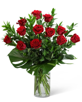 Red Roses with Modern Foliage-12