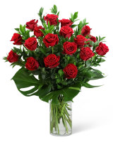 Red Roses with Modern Foliage-18