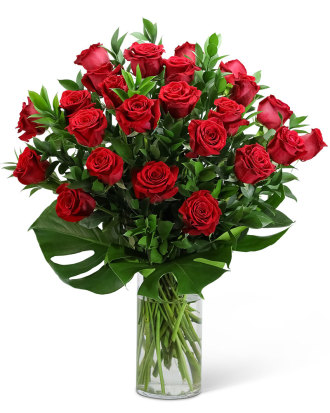 Red Roses with Modern Foliage-24