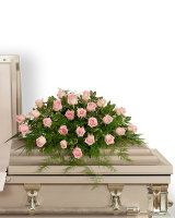 Pink Tranquility Casket Spray