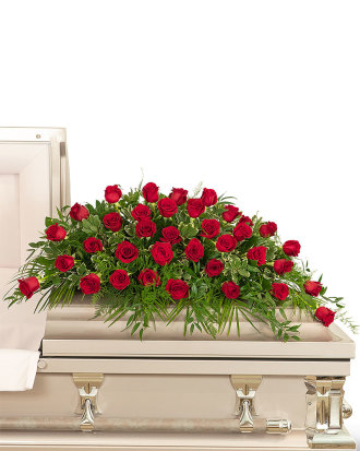36 Red Roses Casket Spray