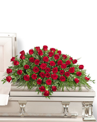 50 Red Roses Casket Spray