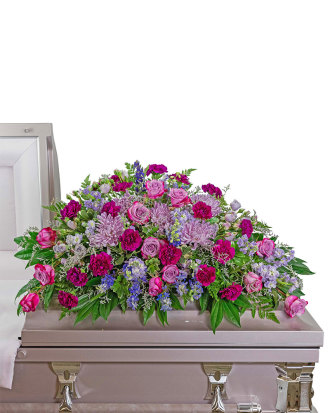 Gracefully Majestic Casket Spray