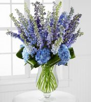 LUXURY DELPHINIUM & HYDRANGEA ARRANGEMENT
