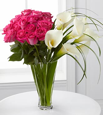 LUXURY ROSE & CALLA LILY ARRANGEMENT