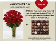 VALENTINE'S DAY SPECIAL: 2 DOZ ROSES AND TRUFFLES
