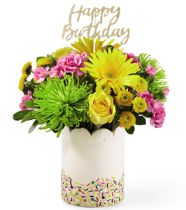 Sprinkles Surprise Birthday Bouquet