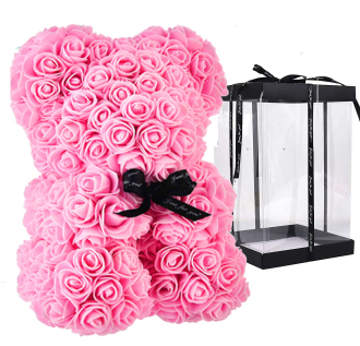 ADORABLE PINK FOREVER ROSE BEAR
