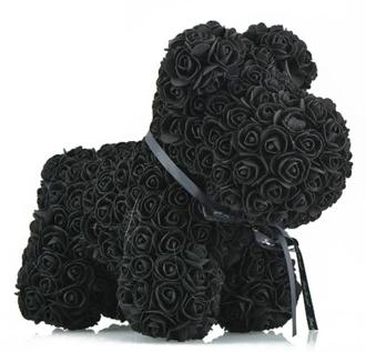 ADORABLE BLACK FOREVER ROSE DOG