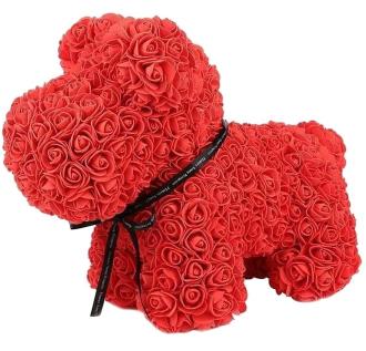 ADORABLE RED FOREVER ROSE DOG