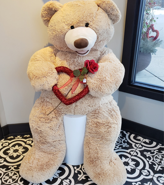 Valentine Delivery In Grand Rapids of Plush Valentine Bear by Sunnyslope Floral