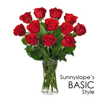 Sunnyslope's BASIC DOZEN RED ROSES