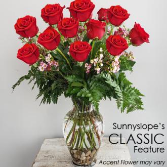 Sunnyslope's CLASSIC DOZEN RED ROSES Feature