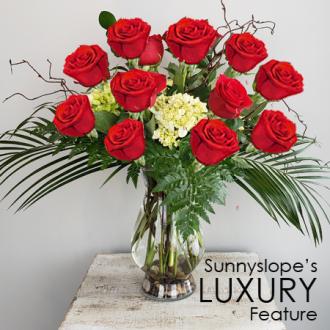 Sunnyslope's LUXURY DOZEN RED ROSES Feature