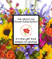 Holiday GIFT SUGGESTION of fresh flowers delivered once a month for a year, Sunnyslope Floral  Grand Rapids  Area Florist