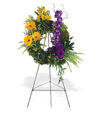 Contemporary style sympathy wreaths & other sympathy gifts for the funeral home or gravesite with Sunnyslope Floral, your same day delivery specialists