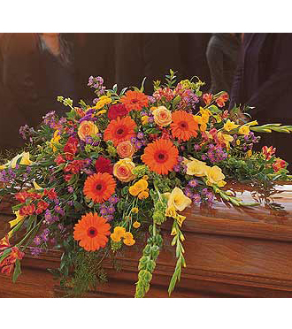 Loving Remembrance Casket Flowers